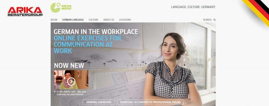 دوره آنلاین زبان آلمانی در سایت موسسه زبان گوته آلمان