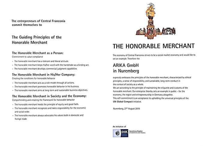 نشان افتخار از سوی اتاق بازرگانی ایران و آلمان